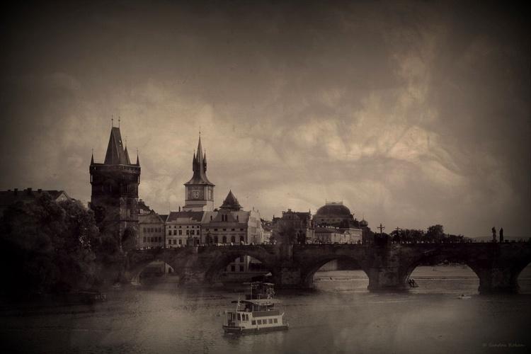 - Prague / Charles Bridge - Canvas 75 x 50 cm - Image 0