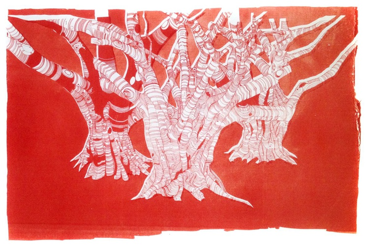 Banyan Trees - study in red - Image 0
