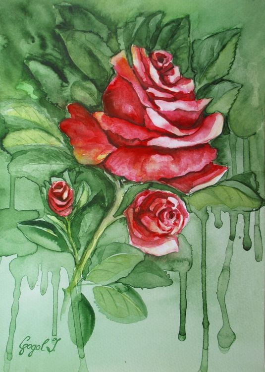 Rose with buds - Image 0