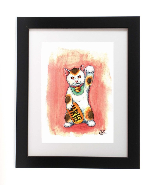 Fortune Kitty (Ready Framed) - Image 0