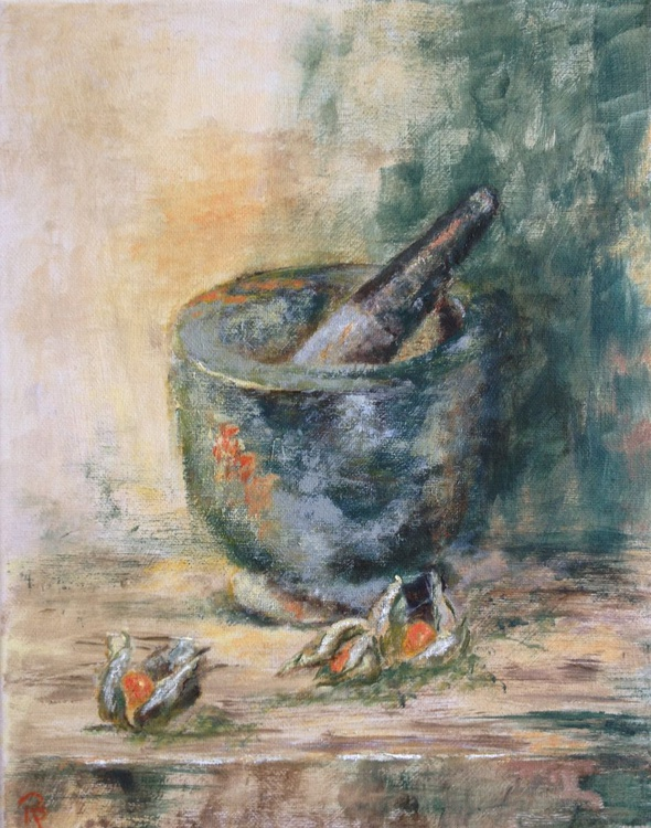 Pestle and Physalis - Image 0