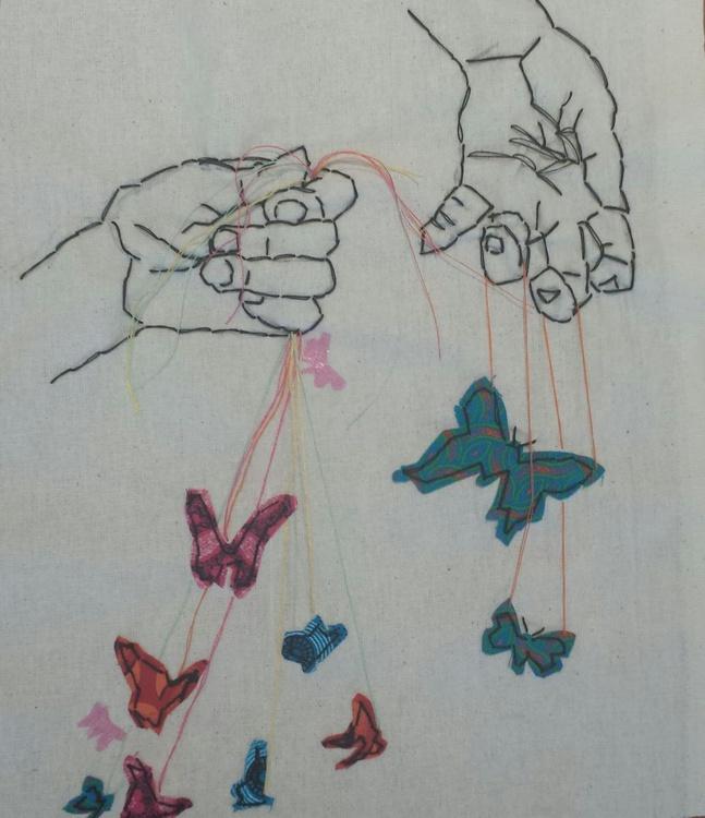 Butterflies on strings - Image 0