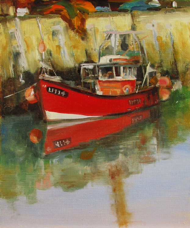 Red Boat, at Rest. - Image 0