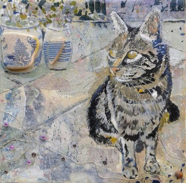 Cat with pots - Image 0