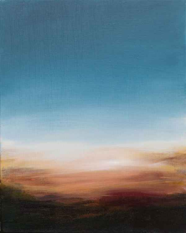 """Dawn"" - small size on canvas - 41X33 cm -"