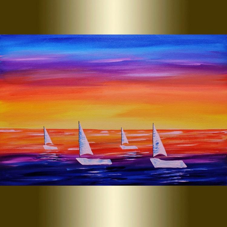 Boats at sea - Image 0