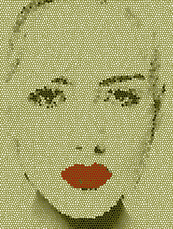 Red Lips in Gray - Image 0