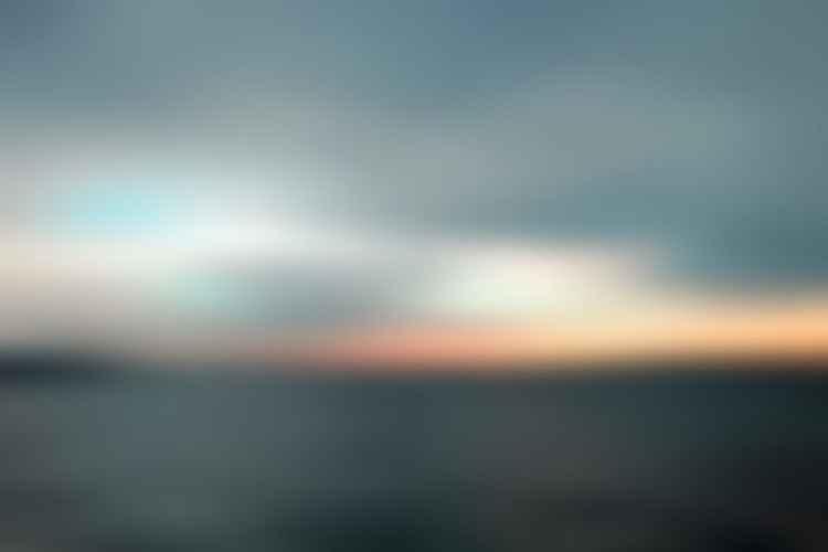 A Grey Black Sea at Sunrise