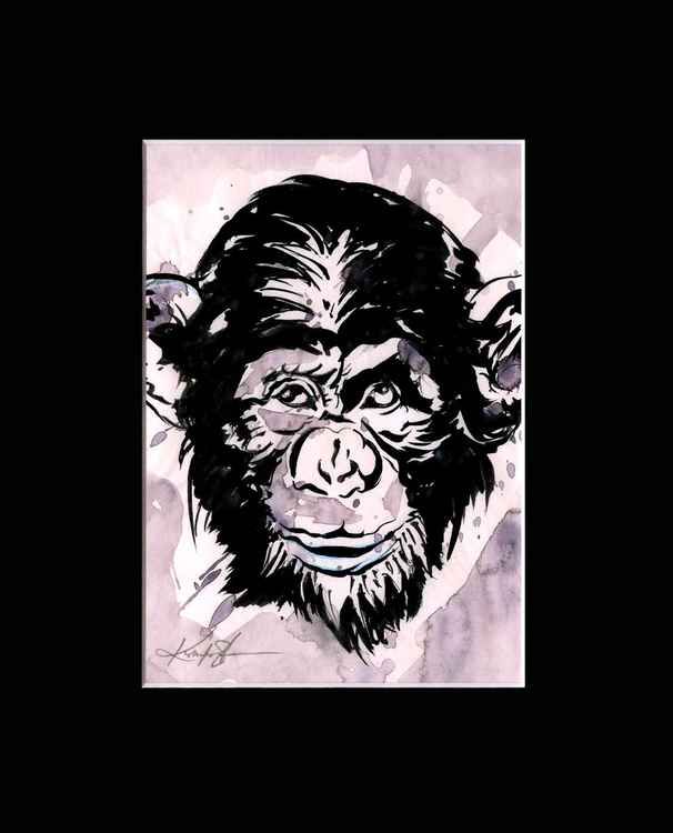 Chimpanzee 2 - Abstract Illustration Painting -