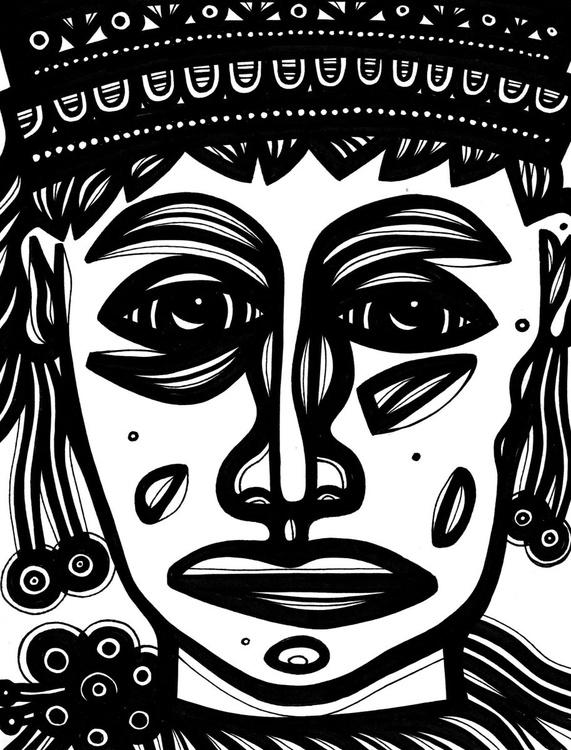 Inquisitive Royalty Original Drawing - Image 0
