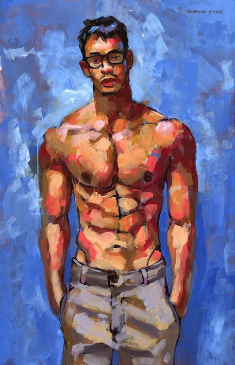 Shirtless with Glasses - Image 0