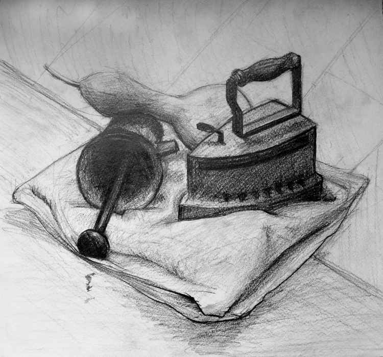 Still life with iron -