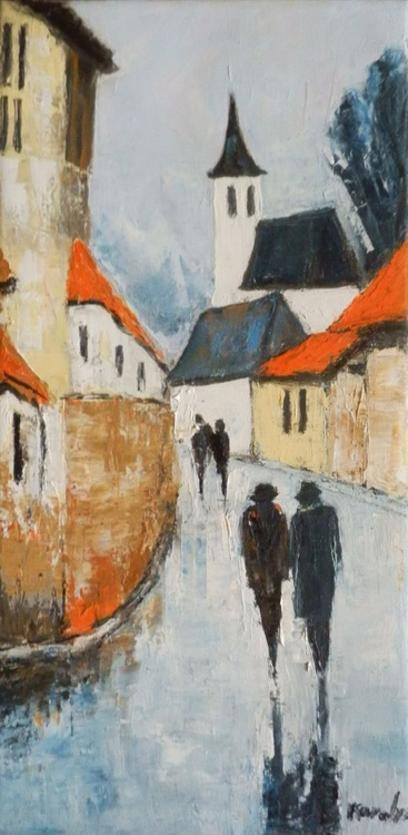 Evening street - Image 0