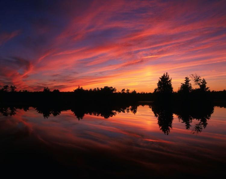 Sunset #2, Plains Brook, Pine Barrens - Image 0