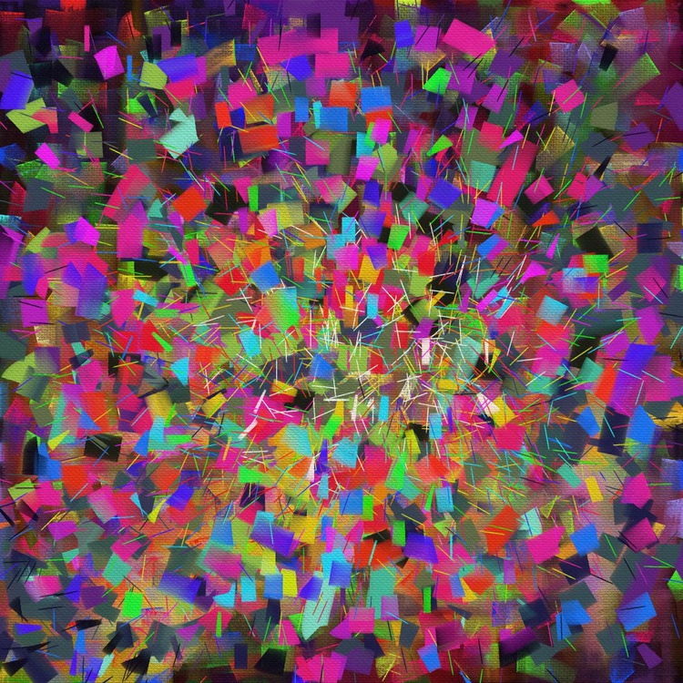 Particles, Abstract digital painting, 50x50cm - Image 0