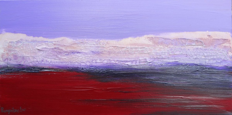 Lilac Skies - 60cm x 30cm, ready to hang - Image 0