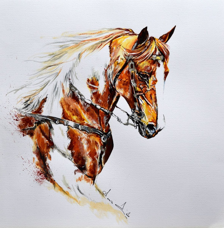 Eternity / Horse painting Modern Contemporary - Image 0