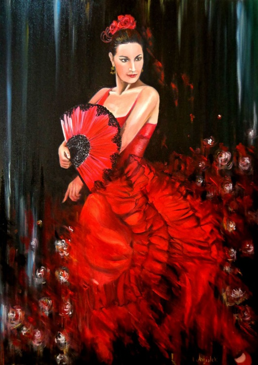 Flamenco red - Image 0