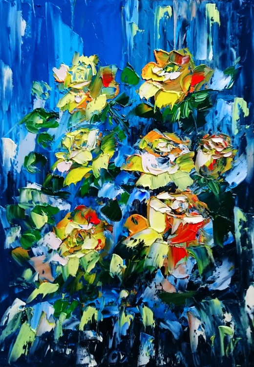 Abstract yellow roses - Image 0