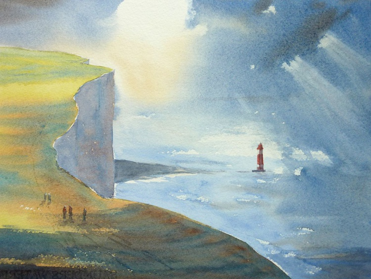 Walking to Beachy Head (small) - Image 0