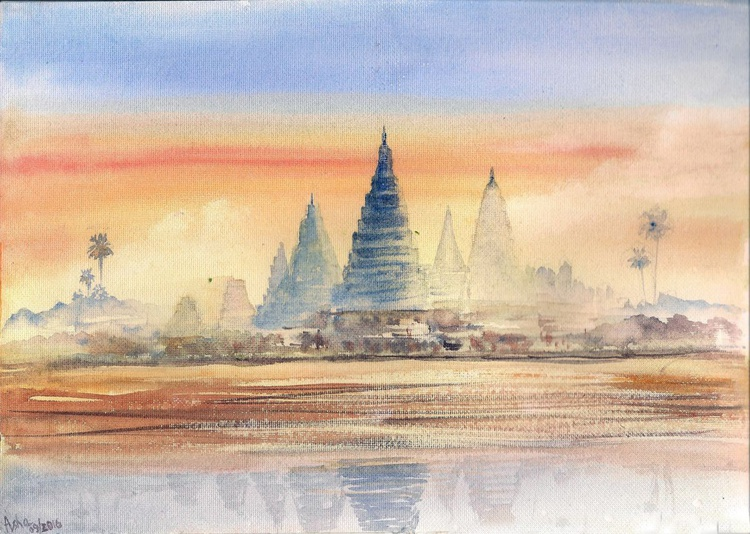 Temples in the sunset - Image 0