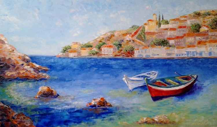 painting  *Golfo Mediterraneo...*  Oil on canvas 100х60 cm -