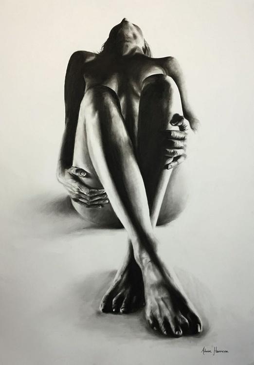 Nude Woman Charcoal Study 30 - Image 0