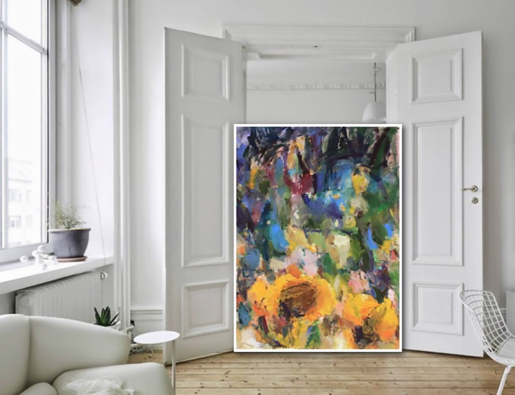Sunflowers - Abstract Painting - Image 0