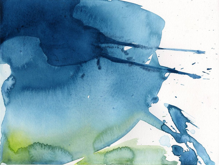 Serenity 2 - Abstract Watercolor Painting by Kathy Morton Stanion - Image 0
