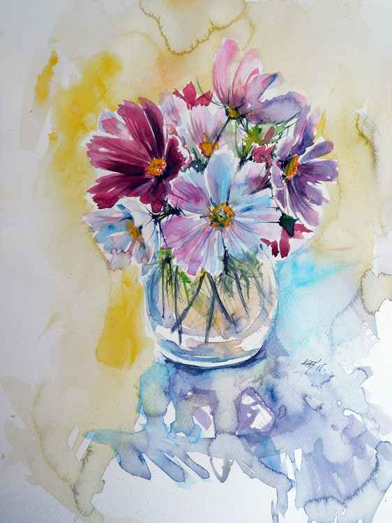 Still life with windflowers