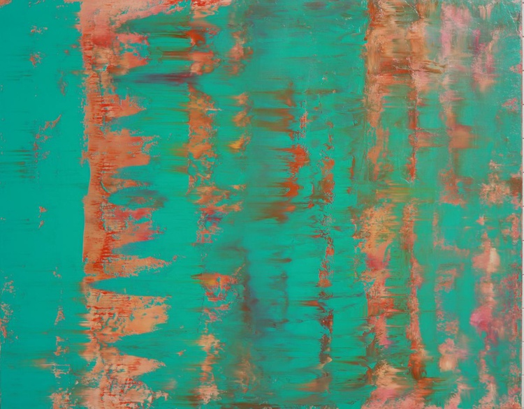 Aqua Turquoise Green Abstract One - Image 0