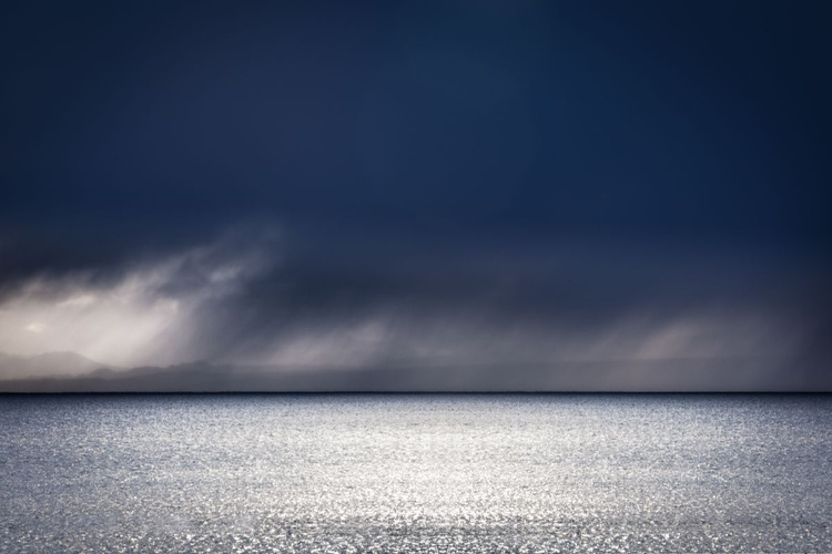 Shimmering Sea,   Extra large minimalist canvas, 60 x 40 inches (152x102cm), Limited Edition No 3/10 - Image 0