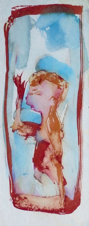 Variation on Passer-by #3, 13x32 cm - Image 0