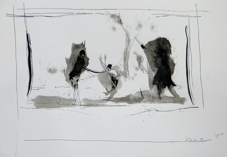 Country Sketch 2, 21x29 cm - Image 0