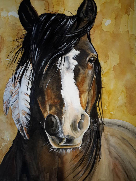 Mustang with Feather - Image 0