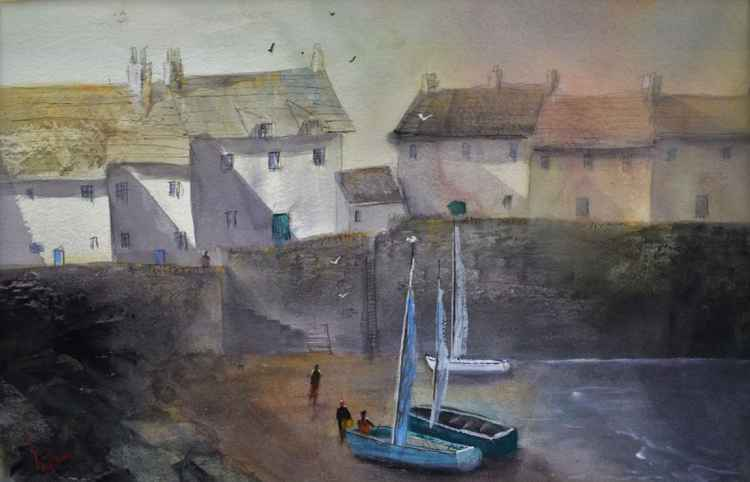 Harbours #3 - Original Watercolour Painting