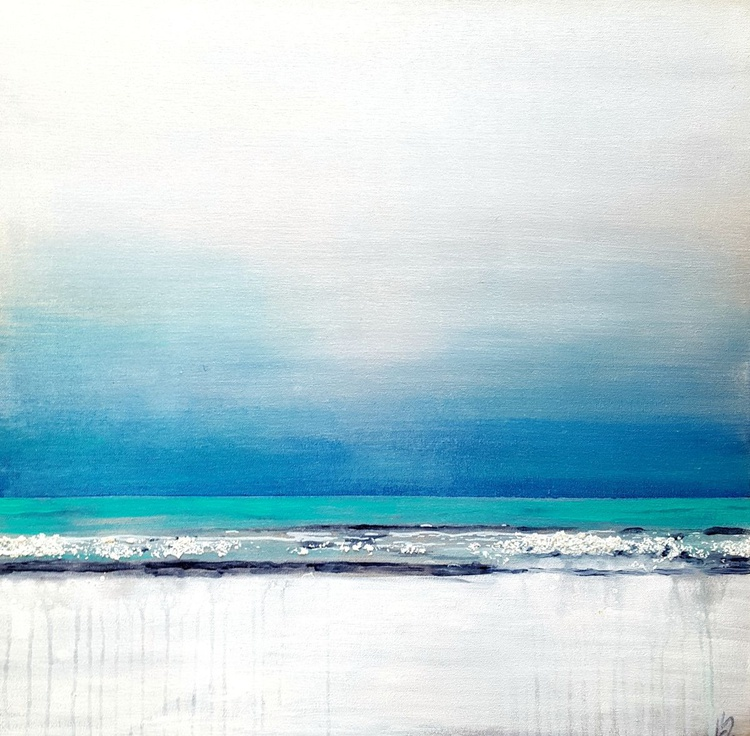 """""""Baltic Shore"""" 24""""x24"""" on canvas - Image 0"""