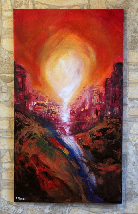 Once upon - Large abstract landscape painting - Image 0