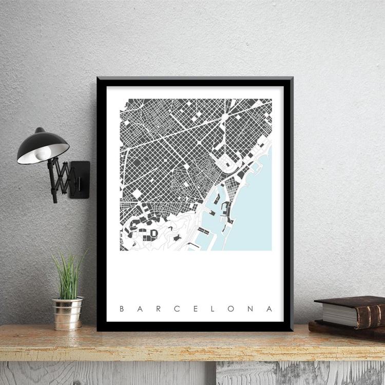 Barcelona Map Art Limited Edition Prints - Image 0
