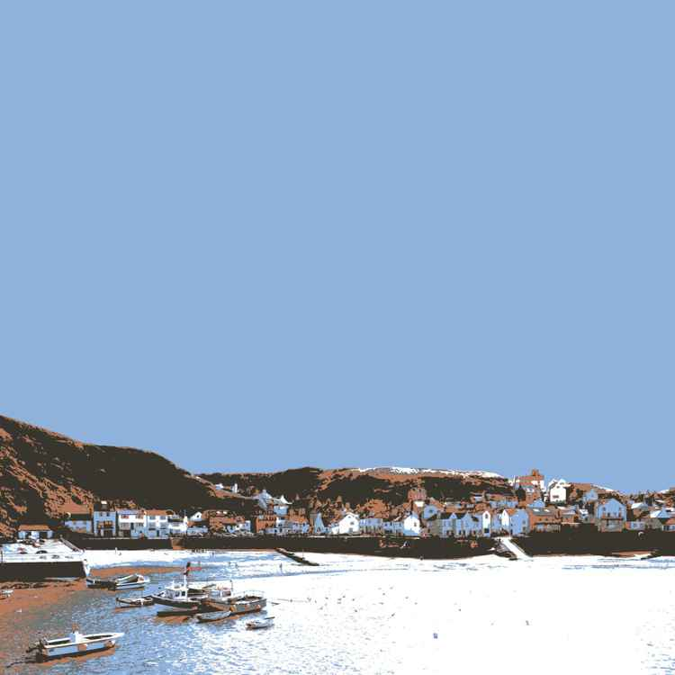 STAITHES ON THE NORTH SEA