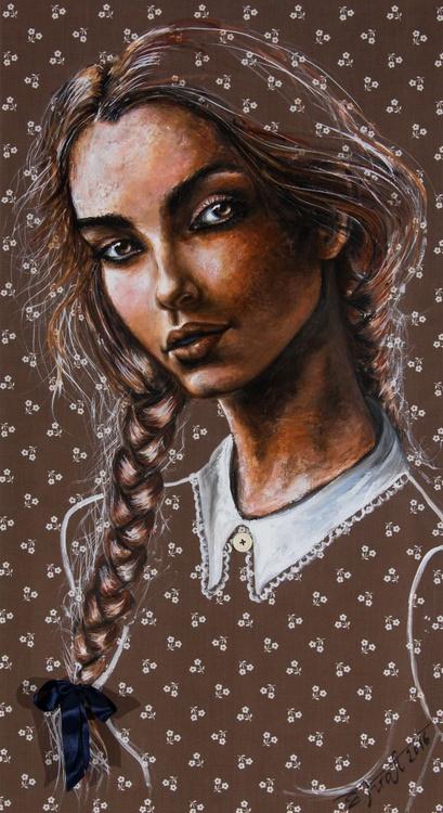 """Lolita"",Original acrylic painting on canvas 60x110x2cm - Image 0"