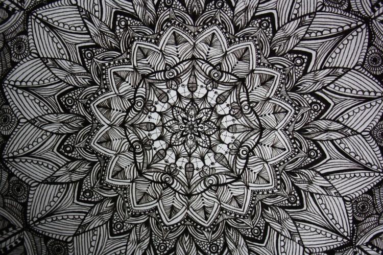 Black and White Mandala - Image 0