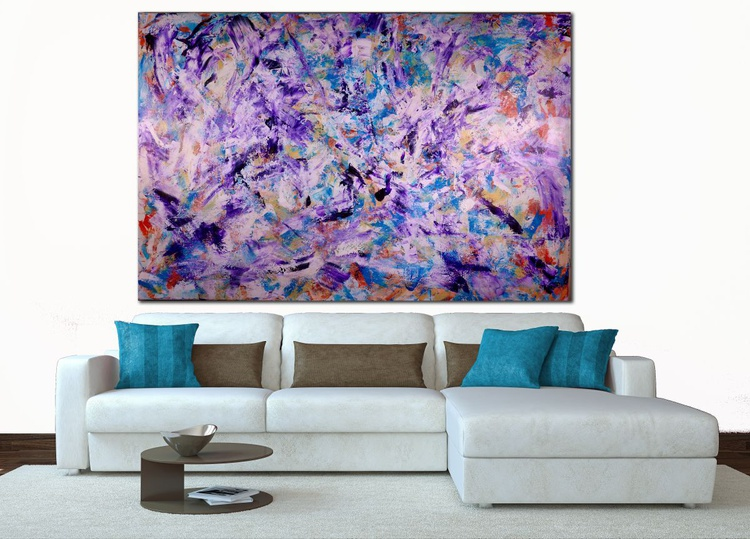 Iridescent Purple (Echoes) - HUGE STATEMENT WORK READY TO HANG! - Image 0
