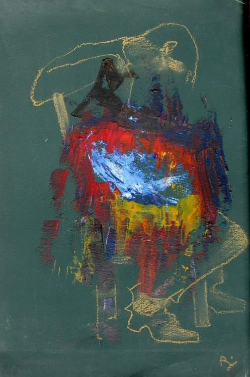 Seated figure under a blanket - Image 0