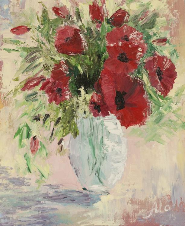 Poppies in vase - Image 0
