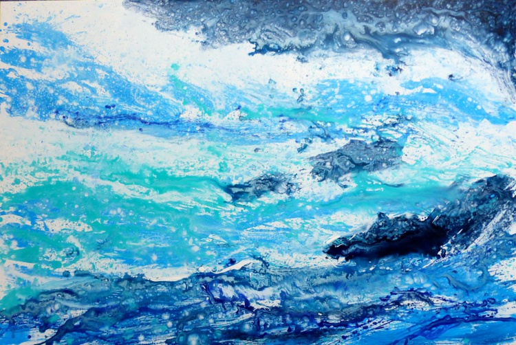 The Breath of the Sea, Large Painting 150x100 cm - Image 0