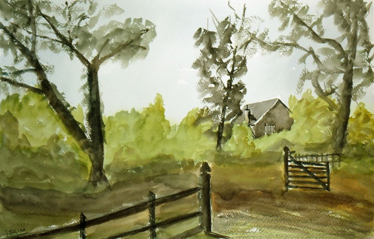 On the Farm - An original large watercolour painting made in Co Wexford, Ireland! - Image 0