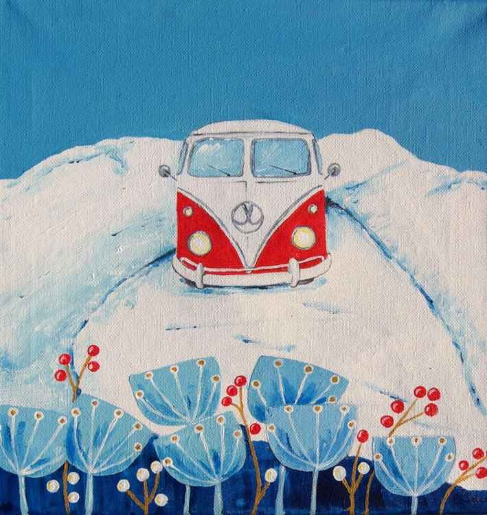 Cool Camper in the Snow