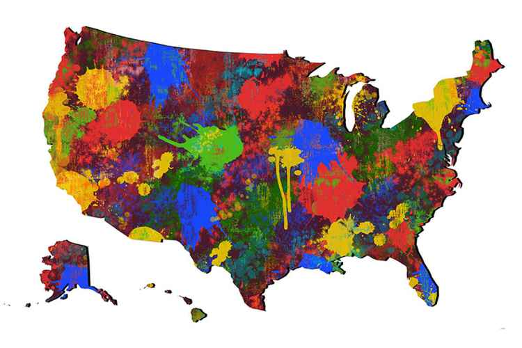 USA Map 7 -