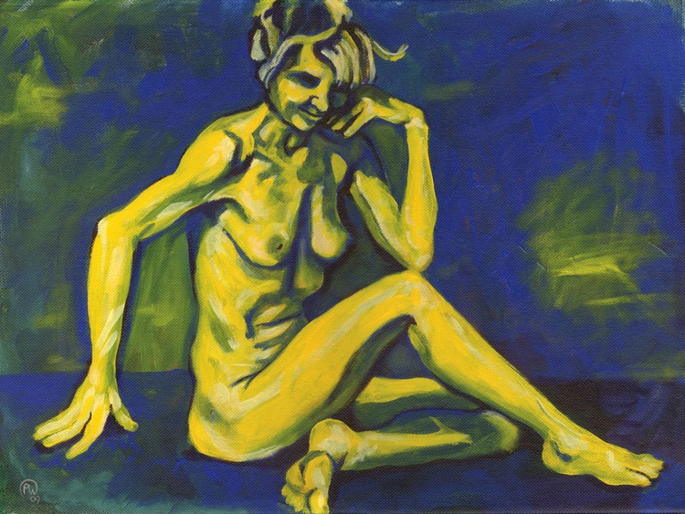 Figure in Yellow and Blue - Image 0